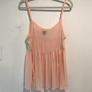Torrid Sheer Peach/Blush Cami Top